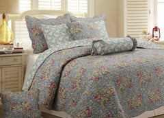 Floral Paisley 100% Cotton 3-Piece Quilt Set