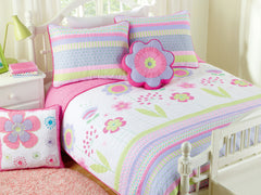 Blossom 100% Cotton Quilt Set with Decorative Pillows