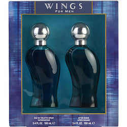 WINGS by Giorgio Beverly Hills EDT SPRAY 3.4 OZ & AFTERSHAVE 3.4 OZ
