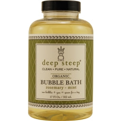 DEEP STEEP by Deep Steep ROSEMARY-MINT ORGANIC BUBBLE BATH 17 OZ
