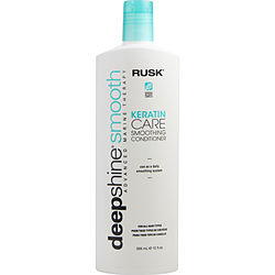 RUSK by Rusk DEEPSHINE SMOOTH KERATIN CARE SMOOTHING CONDITIONER 12 OZ