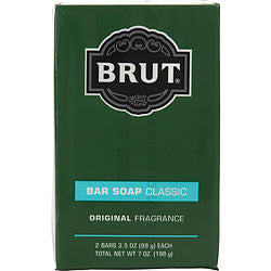 BRUT by Faberge BAR SOAP 3.5 OZ EACH - PACK OF 2
