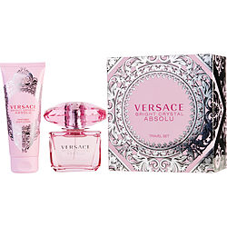 VERSACE BRIGHT CRYSTAL ABSOLU by Gianni Versace EAU DE PARFUM SPRAY 3 OZ & BODY LOTION 3.4 (TRAVEL OFFER)