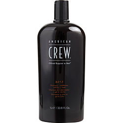 AMERICAN CREW by American Crew 3 IN 1 (SHAMPOO, CONDITIONER, BODY WASH) 33.8 OZ