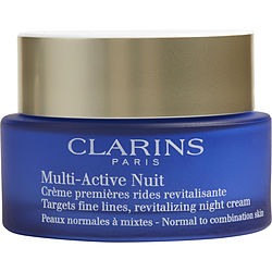 Clarins by Clarins Multi-Active Night Targets Fine Lines Revitalizing Night Cream ( Normal to Combination Skin ) --50ml/1.6oz