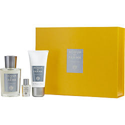 ACQUA DI PARMA by Acqua di Parma COLONIA PURA EAU DE COLOGNE SPRAY 3.4 OZ & HAIR AND SHOWER GEL 1.7 OZ & COLONIA PURA EAU DE COLOGNE .16 OZ MINI