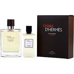 TERRE D'HERMES EAU INTENSE VETIVER by Hermes EAU DE PARFUM SPRAY 3.3 OZ & SHOWER GEL 2.7 OZ