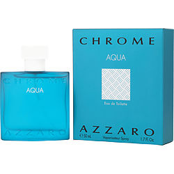 CHROME AQUA by Azzaro EDT SPRAY 1.7 OZ