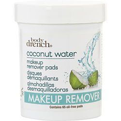 Body Drench by Body Drench Frutique Coconut Water Hydrating Makeup Remover Pads --65 ct