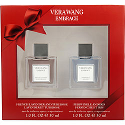 VERA WANG EMBRACE VARIETY by Vera Wang 2 PIECE VARIETY WITH FRENCH LAVENDAR AND TUBEROSE & PERIWINKLE AND IRIS AND BOTH ARE EDT 1 OZ