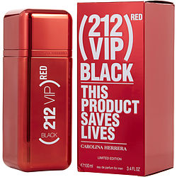 212 VIP BLACK by Carolina Herrera EAU DE PARFUM SPRAY 3.4 OZ (RED EDITION)