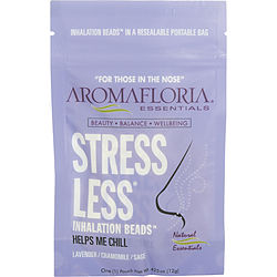 STRESS LESS by Aromafloria INHALATION BEADS .42 OZ BLEND OF LAVENDER, CHAMOMILE, AND SAGE