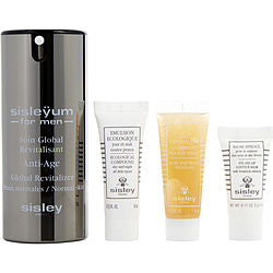 Sisley by Sisley Sisley for Men Discovery Set: Anti-Age Global Revitalizer for Normal Skin 50ml + Buff and Wash Facial Gel 10ml + Ecological Compound 10ml + Eye and Lip Contour Balm 5ml --4 pcs