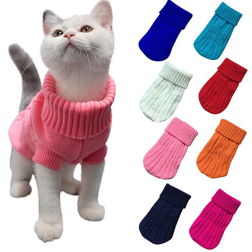 Warm Cat Knitted Sweater