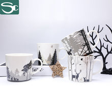 Load image into Gallery viewer, 13oz Ceramic Forest and Deer Printing Mug SP2020-503