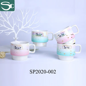 Colorful Pearl Glazed Ceramic Coffee Cup-SP2020-002