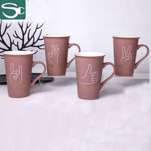 Load image into Gallery viewer, Finger Pattern Matt Glaze Ceramic Coffee Cup 380ml-SP2020-012