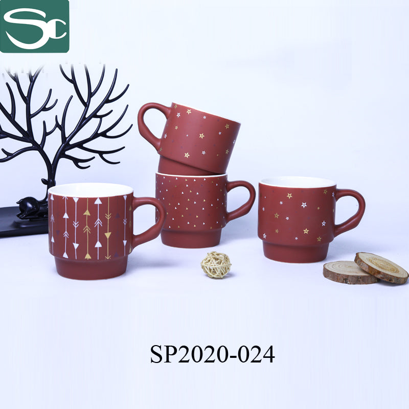 Stackable Coffee Mug Red - SP2020-024