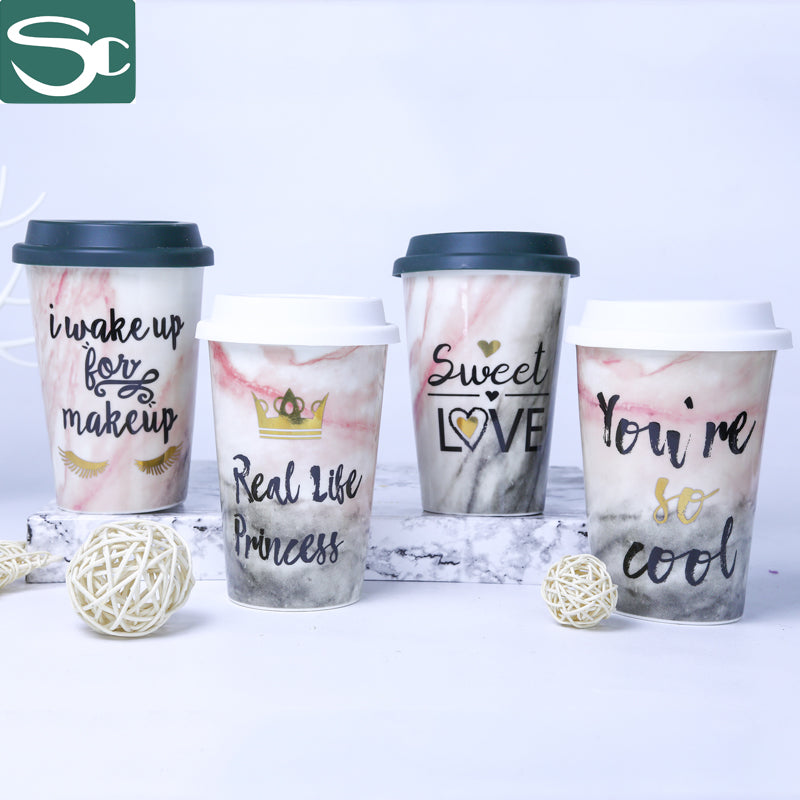 Ceramic Travel Mug with Silicone Lid-SP2020-041