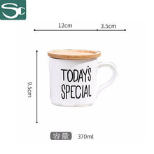 Load image into Gallery viewer, Ceramic mug with wooden lid SP2020-001