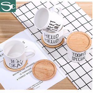 Ceramic mug with wooden lid SP2020-001