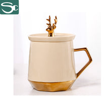 Load image into Gallery viewer, 345ml Electroplate Gold Deer Mug SP2020-0822