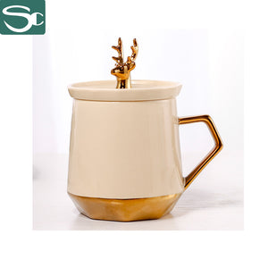 345ml Electroplate Gold Deer Mug SP2020-0822