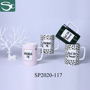 Straight Body Square Handle Ceramic Coffee Mug-SP2020-117