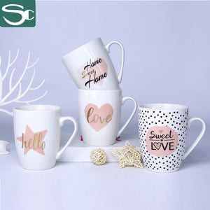 Drum Shape Coffee Mug Love Design-SP2020-164