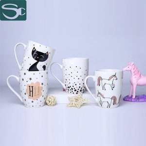 Drum Shape Coffee Mug Cat & Unicorn-SP2020-185