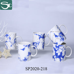 Blue Decal with Gold Design Coffee Mug -SP2020-218