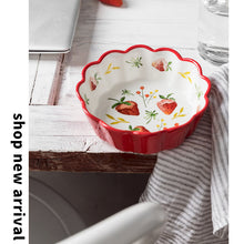 "Load image into Gallery viewer, 5.5"" Ceramic Salad Bowl Petal Rim-SP2020-403"