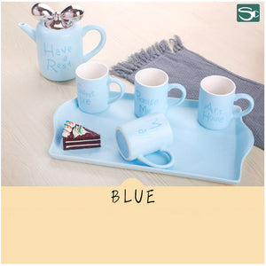 8pcs Teapot Turkey Style Set-Blue,Pink,White-SP2020-409