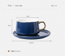 Load image into Gallery viewer, Set 6 Ceramic Coffee Cup& Saucer-SP2020-410