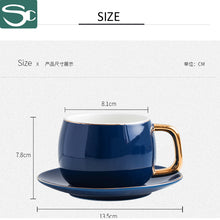 Load image into Gallery viewer, 6PCS Ceramic Coffee Cup& Saucer Sets-SP2020-413