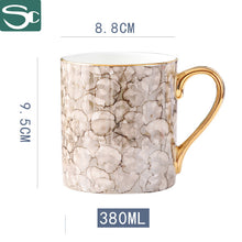 Load image into Gallery viewer, 38CL Gold Handle Ceramic Coffee Mug SP2020-421