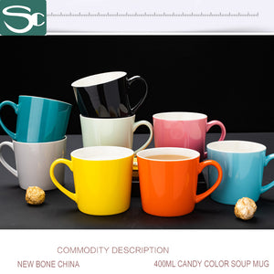 400ml Candy Color ceramic coffee mug SP2020-425