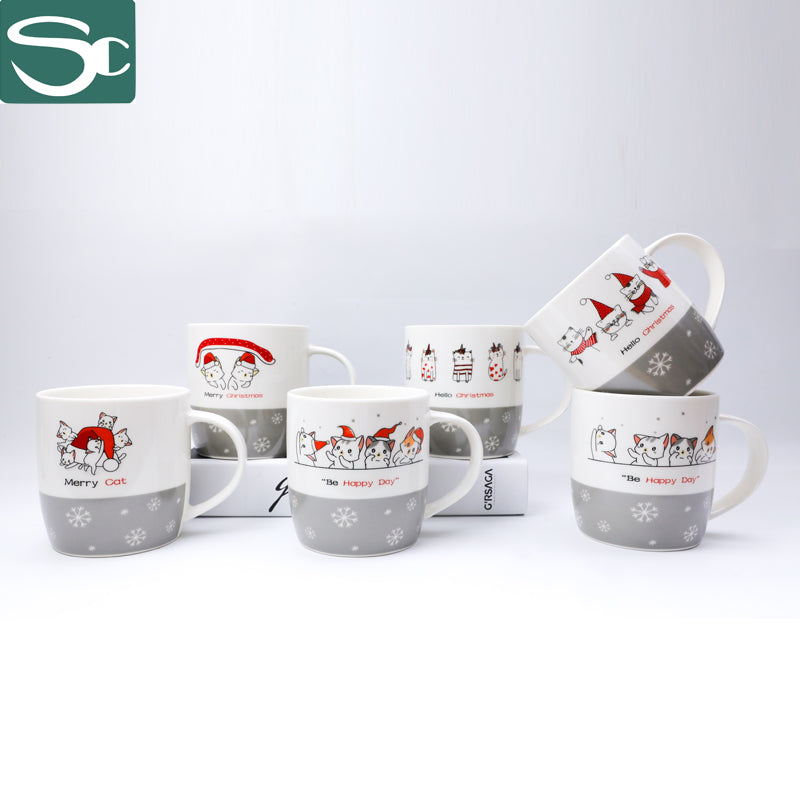 350ML Ceramic Christmas Cat Mug SP2020-501