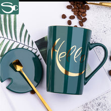 Load image into Gallery viewer, 450ml Ceramic Green Mug SP2020-J01