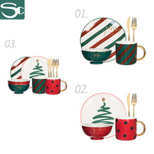 Load image into Gallery viewer, 12pcs Dinnerware Set Service for 4 for Christmas SP2020-J14