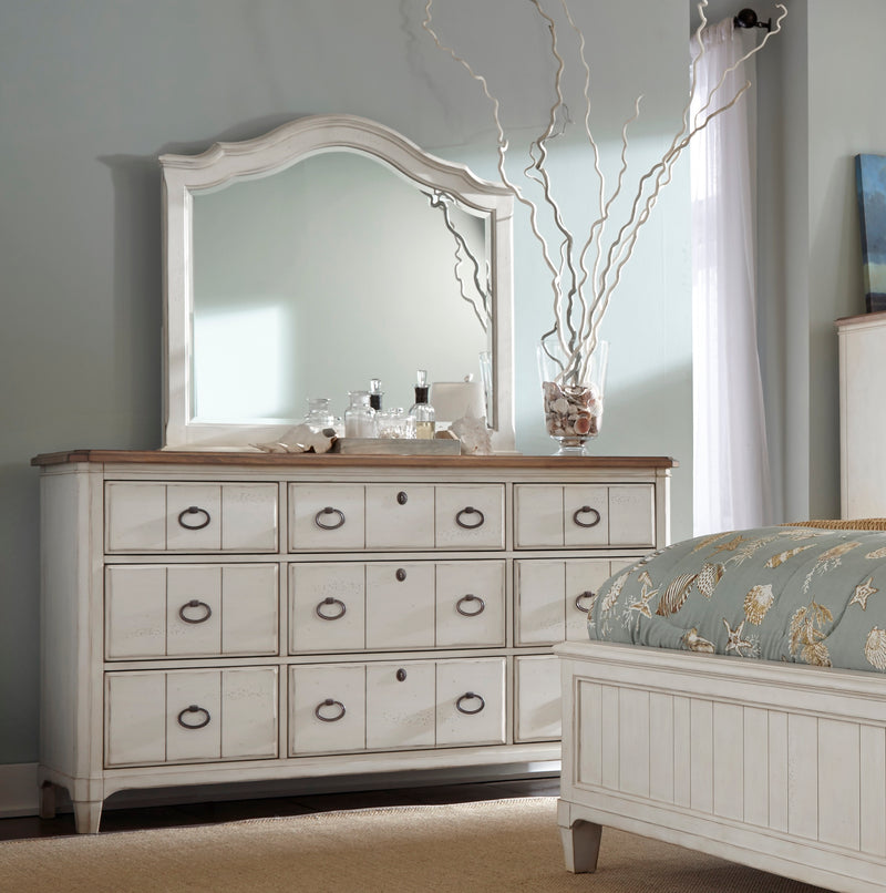 Millbrook Nine Drawer Dresser with Landscape Mirror
