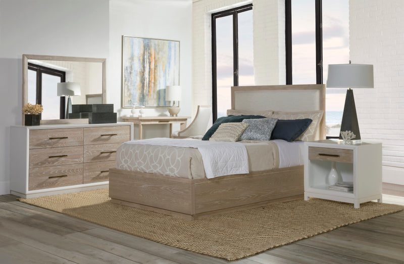 Boca Grande Panel Upholstered Platform Bed