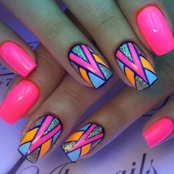 Neon Nail Art - Alyce Paris