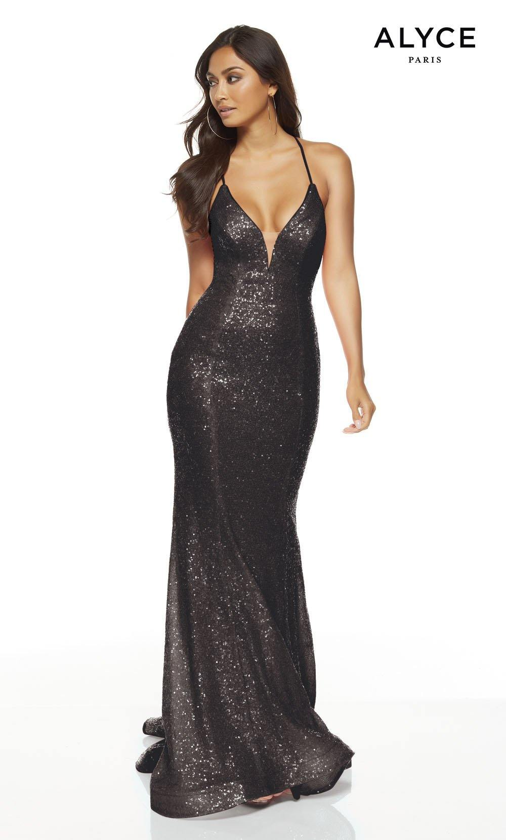 Formal Dress: 1387. Long, V-Neck, Straight, Lace Up Back