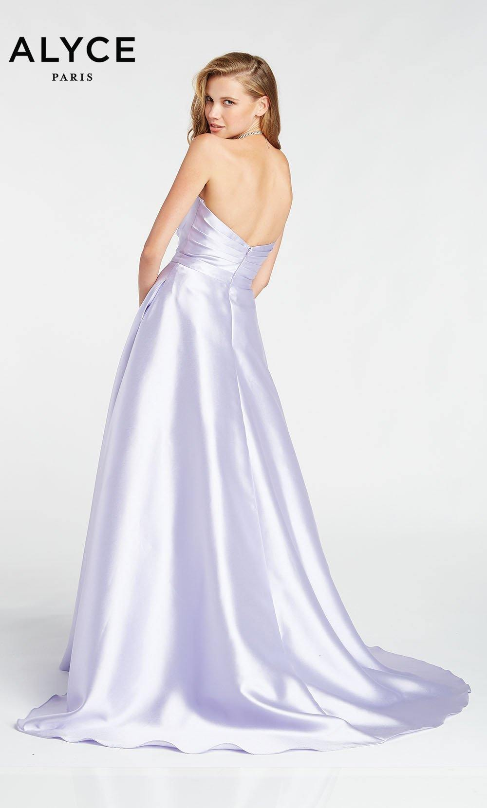 Formal Dress: 1425. Long, Strapless, Medium Fullness