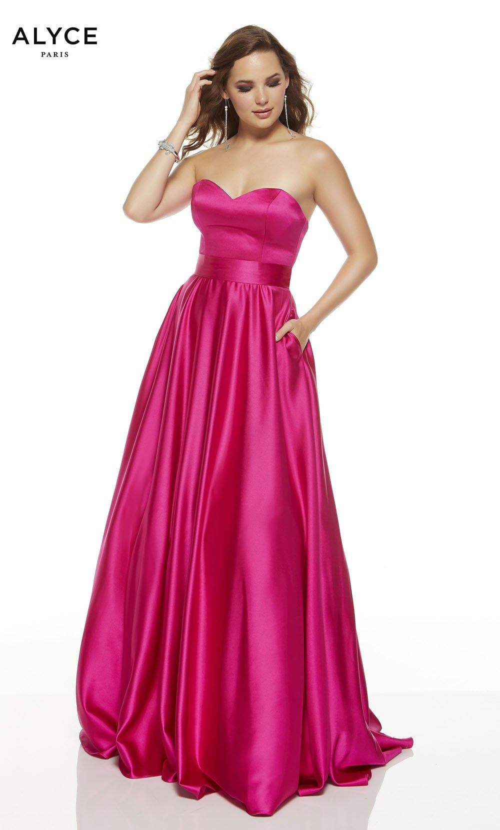 Formal Dress: 1427. Long, Strapless, Fit N Flare