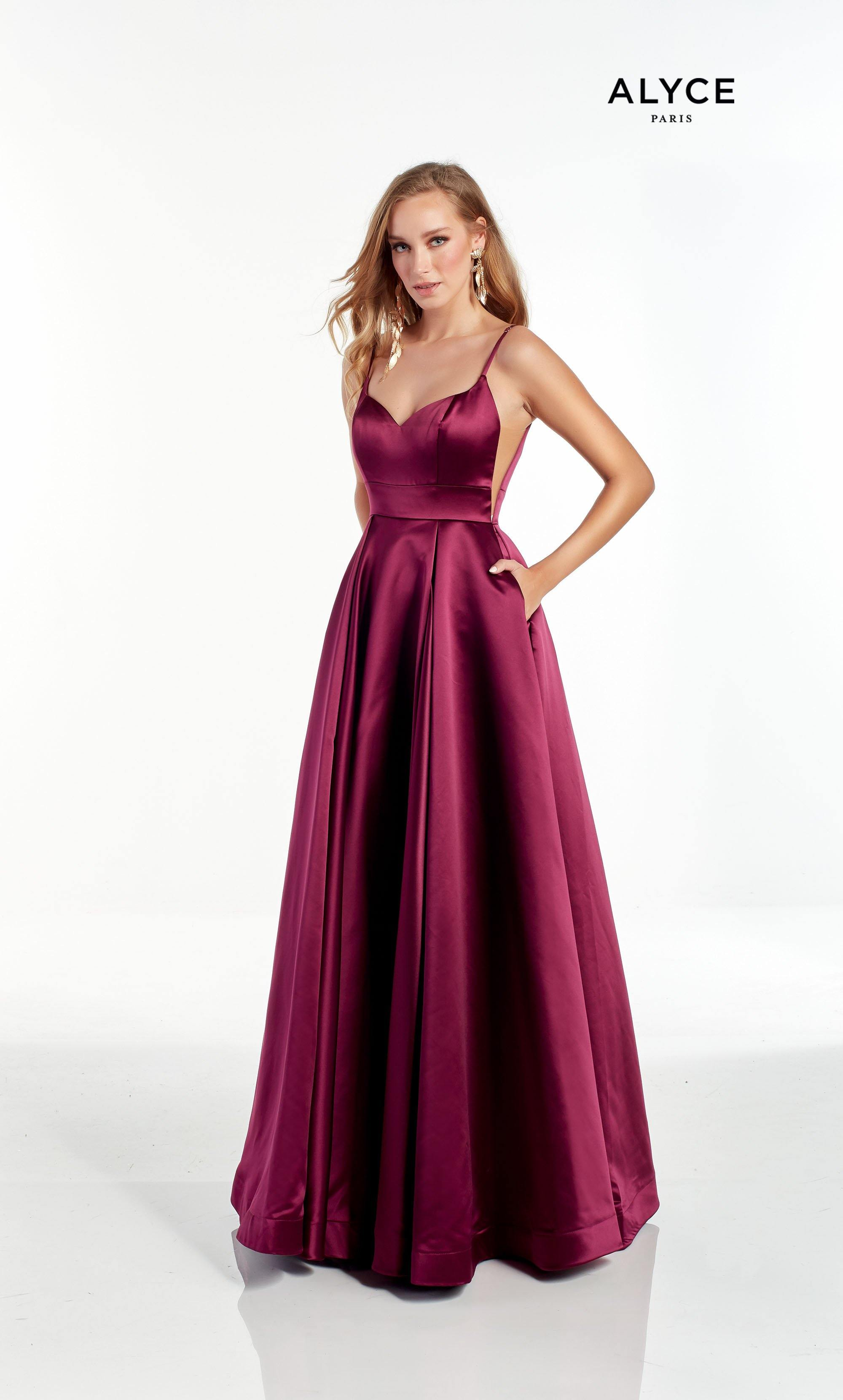 Black Cherry A line Bridesmaid dress with a sweetheart neckline and adjustable straps