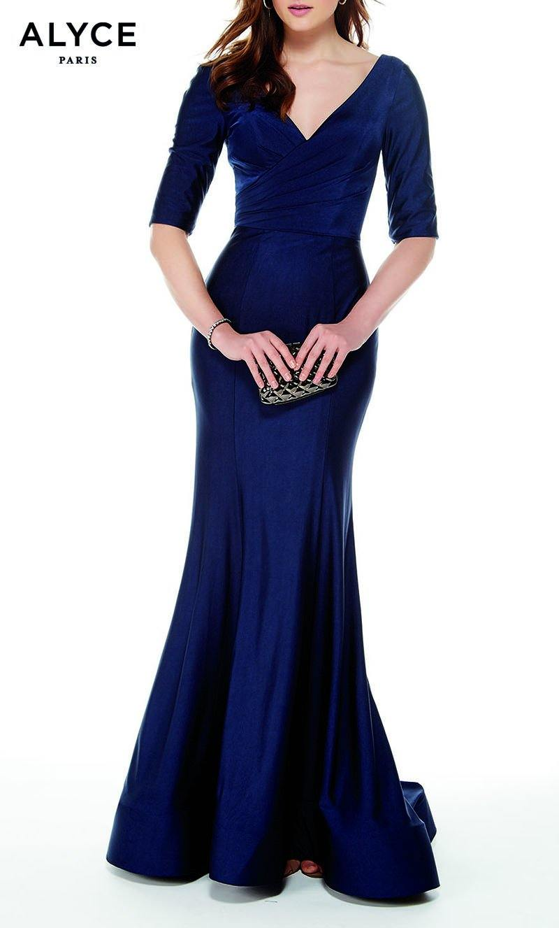 Formal Dress: 27016. Long, V-Neck, Mermaid, V Shaped Back