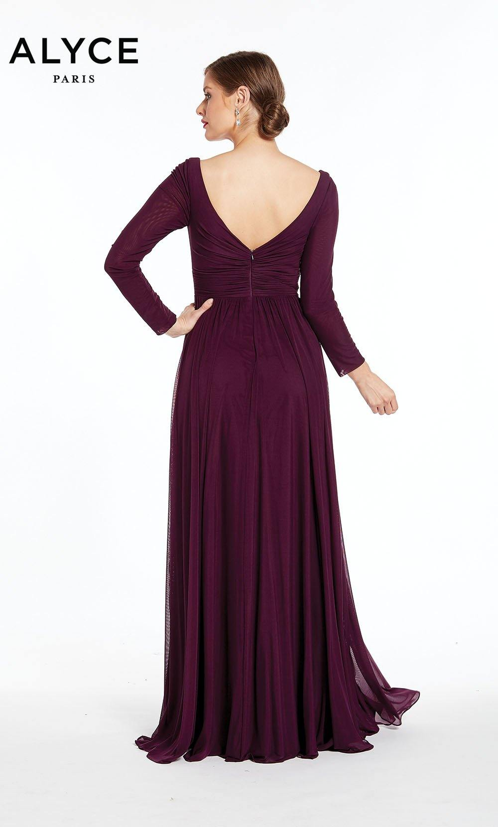 Formal Dress: 27304. Long, Plunging Neckline, Flowy