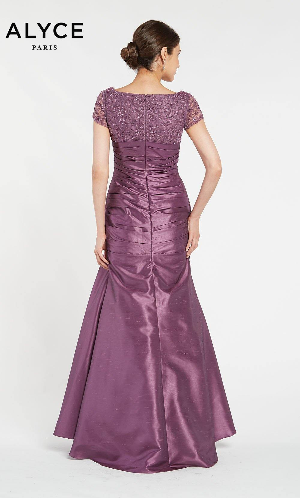 Formal Dress: 29357. Long, V-Neck, Mermaid, Enclosed Back